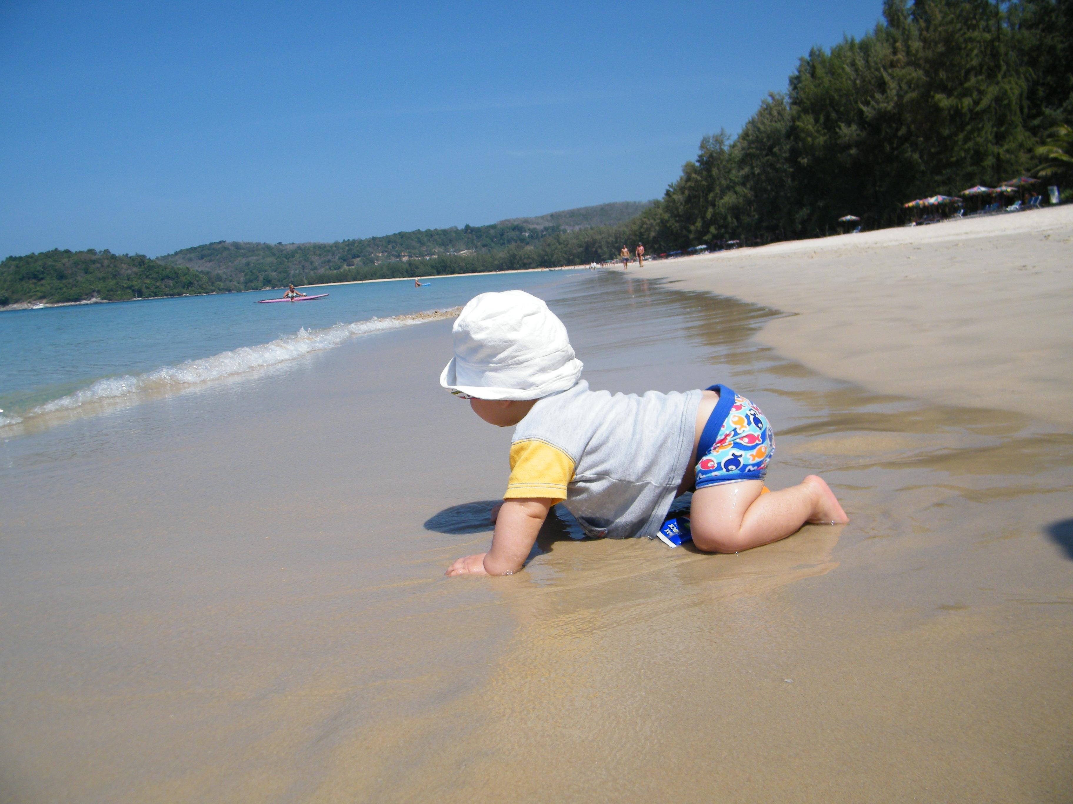 Sulla spiaggia di Bang Tao