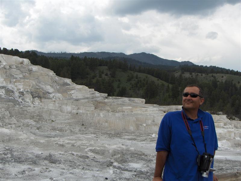Usa Parchi dell'ovest, Grandi parchi americani, Yellowstone National Park, Le scale naturali di travertino a Mammoth Hot Springs
