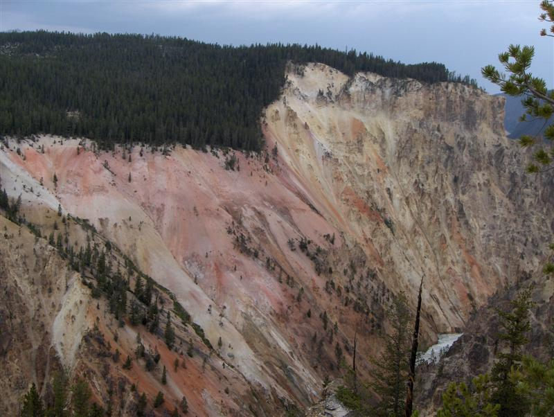 Usa Parchi dell'ovest, Grandi parchi americani, Yellowstone National Park, Scorcio del Canyon dell'Artist Point